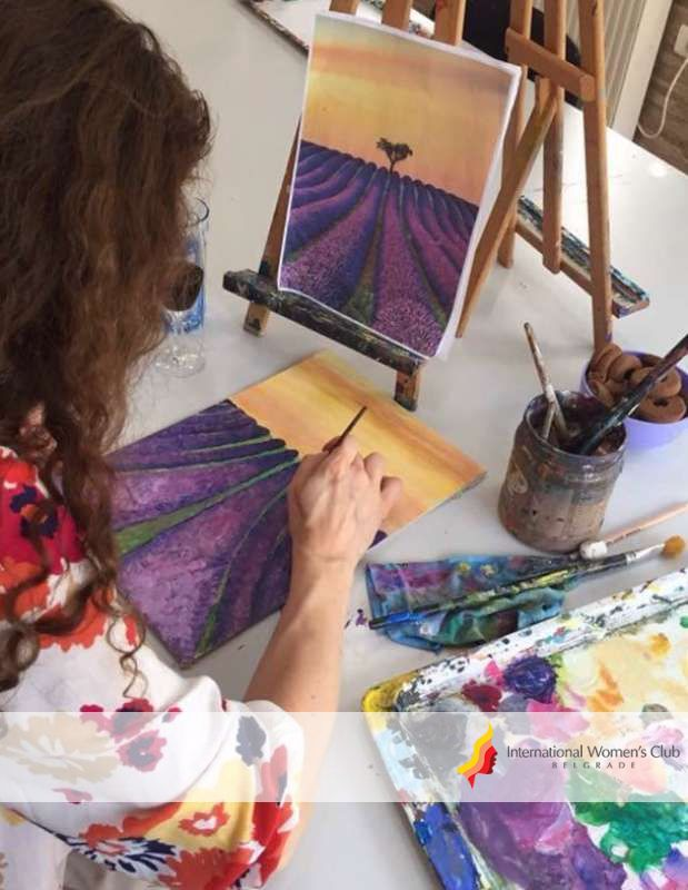 Art & Painting Section - Painting Lavender Fields